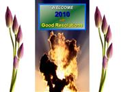 Welcome 2010 with Good Resolutions - Ple