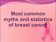 Most common myths and statistics of breast cancer
