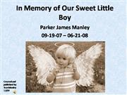 Tribute to Parker James Manley