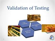 Cushing presentation-  Testing Validation