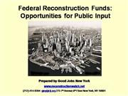Federal Reconstruction Funds