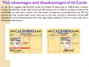 The advantages and disadvantages of Id Cards