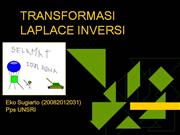 TRANSFORMASI LAPLACE INVERSI