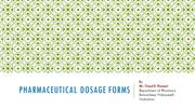 Pharmaceutical Dosage forms By VDR