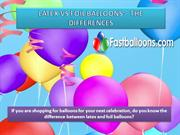 LATEX VS FOIL BALLOONS – THE DIFFERENCES