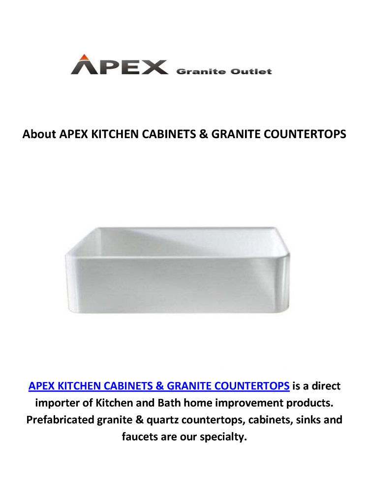 Apex kitchen sinks granite countertops in los angeles for Apex kitchen cabinets