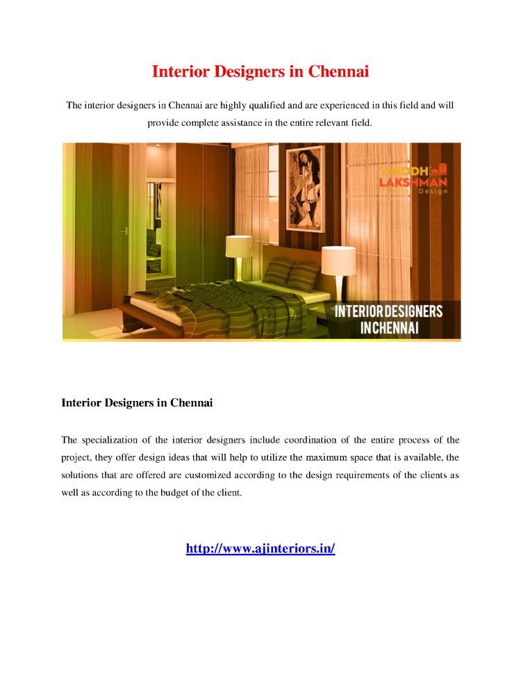 Interior Designers In Chennai Authorstream