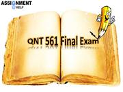 QNT 561: Assignment E Help - QNT 561 Final Exam