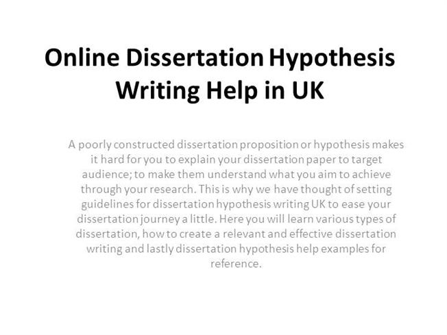 Buying a dissertation hypothesis