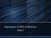 Importance of SEO in Business Sales?