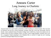 Amoura Carter And Long Journey to Charlotte