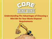 Understanding The Advantages of Choosing a Mini Bin for Your Waste Dis