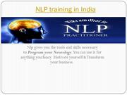 Nlp Training experts in India