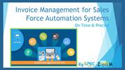 On Time & Precise – Invoice Management for Sales Force Automation Syst