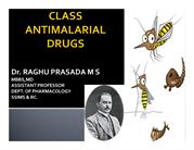 CLASS ANTIMALARIAL DRUGS