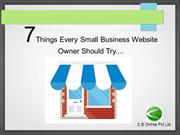 7 Things Every Small Business Website Owner Should Try