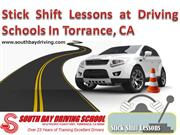 Stick Shift Lessons at Driving Schools In Torrance, CA