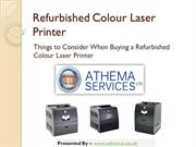 Things to Consider When Buying a Refurbished Colour Laser Printer