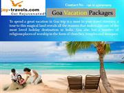 Goa vacations Trips
