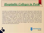 Hospitality Colleges in Perth