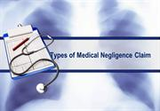 Types of Medical Negligence Claim