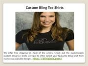 Custom Bling Tee Shirts
