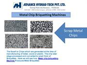 Metal Chip Briquetting Machines