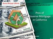 Pros Of Reverse Mortgage California