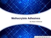 Parson Adhesives Methacrylic Adhesives