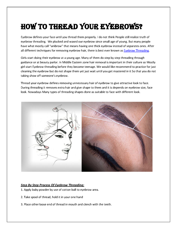 How To Thread Your Eyebrows Authorstream