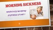 When Does Morning Sickness Start When Pregnant