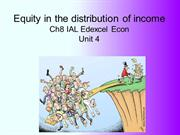 Chapter 8 The distribution of income and wealth