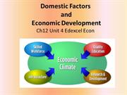 Chapter 12 Domestic Factors and Economic Development