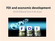 Chapter 14 Foreign direct investment and economic development