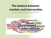 Chapter 16 The Balance between markets and intervention