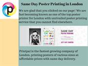 A0 Poster Printing London