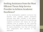 Thesis Help Online Service | Best Thesis Writing Help UK