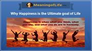 Why Happiness is the Ultimate goal of Life