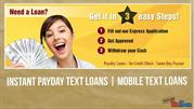 Fast Text Loans  | Text Loans |Cash Loans | Instant Text Loans |