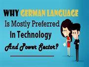 Why German Language Is Mostly Preferred In Technology