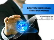 Directory Submission In Seo By Erum Mahfooz