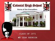 CHS Class of 1971 Presentation for Web