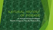 Natural history of disease and level of Prevention
