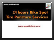 24 hrs Bike Spot tire Puncture services Madhapur,hyderabad