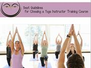 Best Guidelines for Choosing a Yoga Instructor Training Course