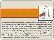 Portable Water Filter System