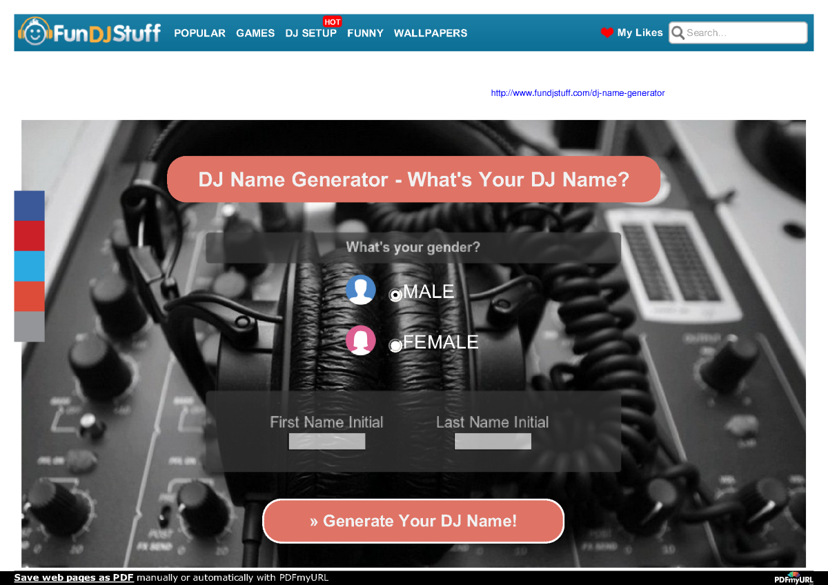 Most Reliable DJ Name Generator