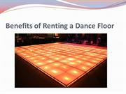 Benefits of Renting a Dance Floor
