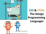 CSS & HTML - The Design Programming Languages