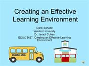 Creating an Effective Learning Environment